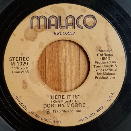SP-0021 MISTY BLUE c/w HERE IT IS /DOROTHY MOORE  #SOUL中古レコードSP
