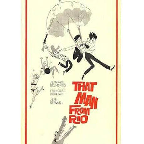 "OP-063 「リオの男」""That Man from Rio"" 映画ポスター/ アメリカ版オリジナル/1964"