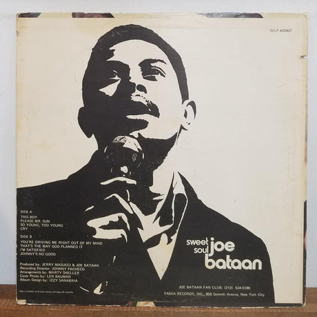 LP-0017「SWEET SOUL」/JOE BATAAN  #LATIN FUNK  #中古レコード