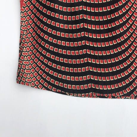 トップス《スクエアネック》 made of Wax print