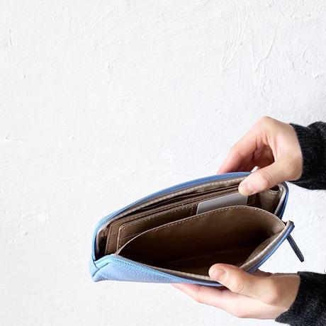 やわらかい長財布/色が選べます/ブルーグラデーション