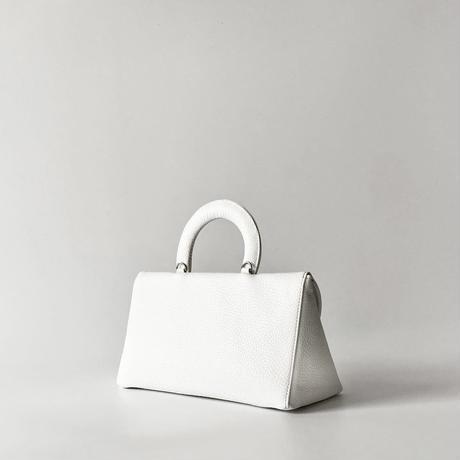 セミサークルフラップバッグ/ホワイト