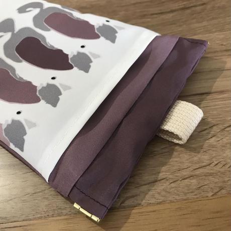 ❝ボーダーくるり❞撥水消臭マナーポーチ (紫)