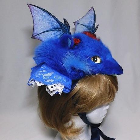 けもドラヘッドドレス(青)