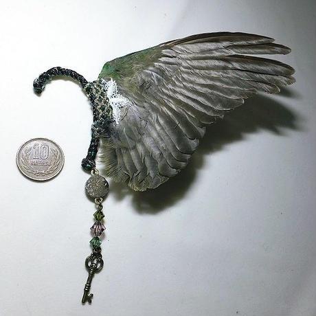 翼イヤーフック(緑・大)