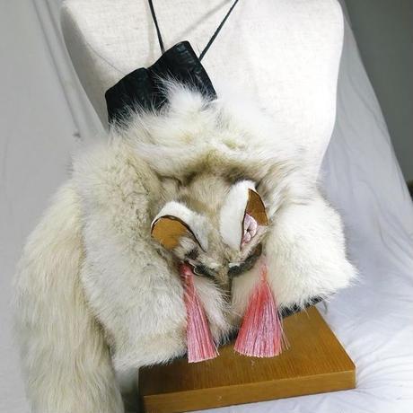 白狐の巾着袋