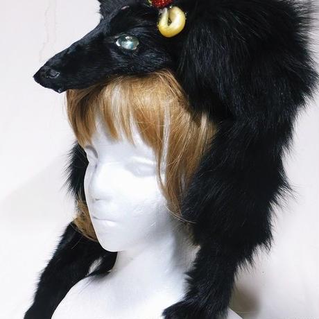 三つ目獣のヘッドドレス(黒)