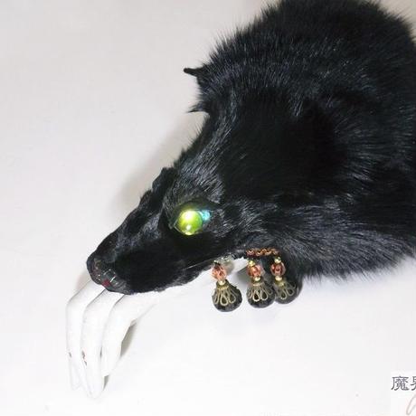 けものブレスレット(黒)
