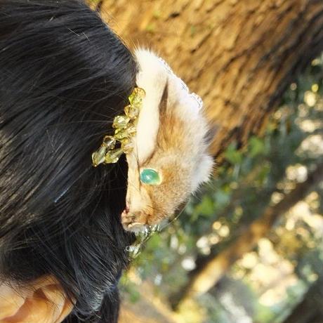 リスの髪飾り(ナチュラル)