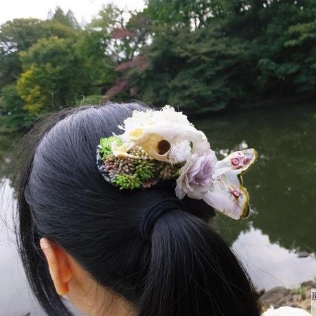 肉食獣の髪飾り