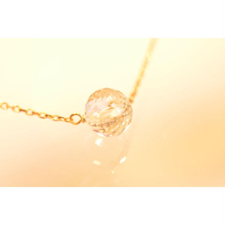 White Topaz Long Necklace ( SNN-016WT)