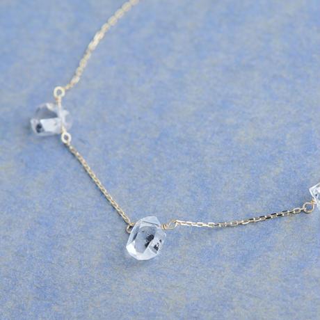 Herkimer Quartz Bracelet (SNB-011HD)K10YG