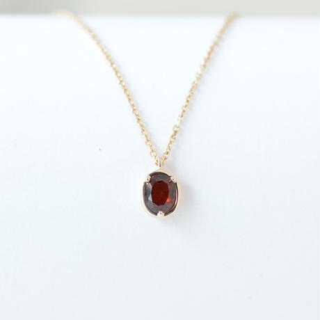 Garnet Necklace  (SNN-055GA)