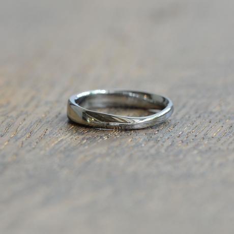 金属アレルギーの方 でも身につけられる結婚指輪ハフニウム(ak-004-Hf)*店頭のみ販売*