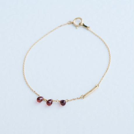 Garnet Bracelet (SNB-021GA)K10YG