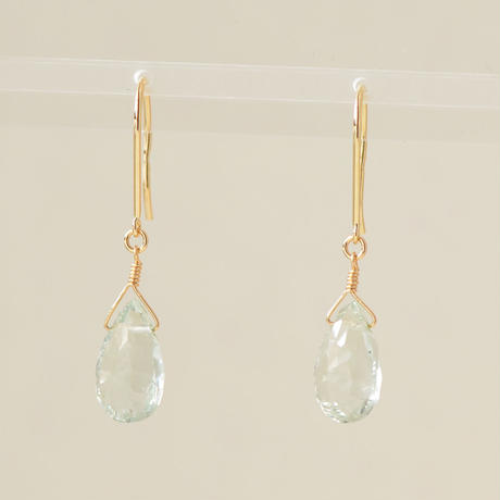 Green Quartz Pierce (SNP125GQ-F K18YG)