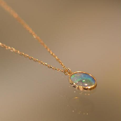 Australia opal necklace (iro-024op-nec)
