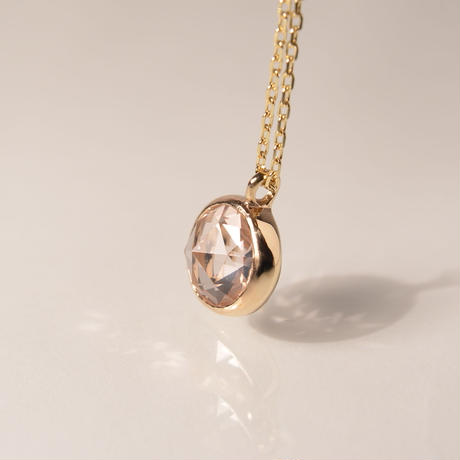 Rose Quartz Necklace  (SNN-029RQ)