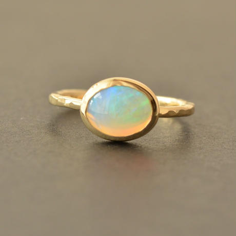 Opal Ring  #12  (UNR-002-OP K18YG)