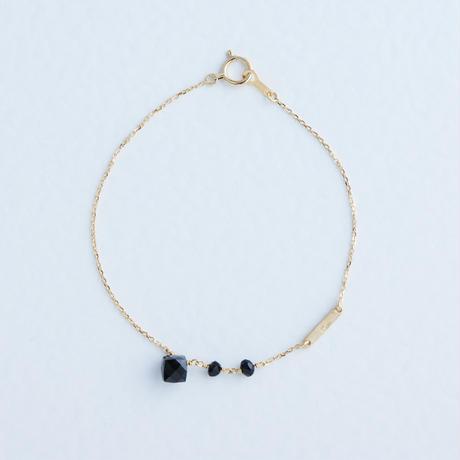 Onyx & Spinel Bracelet (SNB-022BS)K10YG