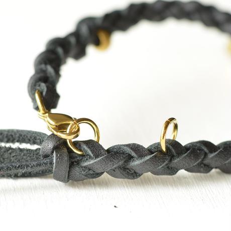 本革ブレスレット / 黒|workshop-BK18,20