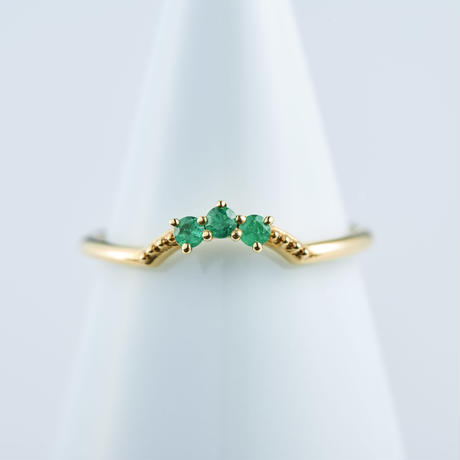 Emerald Ring  #11 (SNR-018-E K18YG)