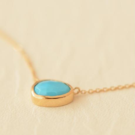 Turquoise Necklace (iro-029TQ K18YG)