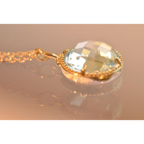 Blue Topaz Necklace (iro-020 K18WGN)