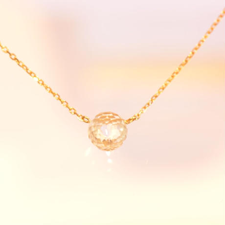 White Topaz Long Necklace ( SNN-016WT)