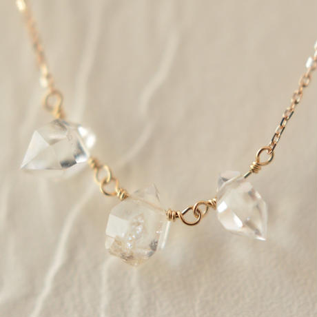Herkimer Diamond Necklace  (SNN-045HD-LONG)