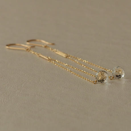 white topaz long pierce (SNP-101WT-F)