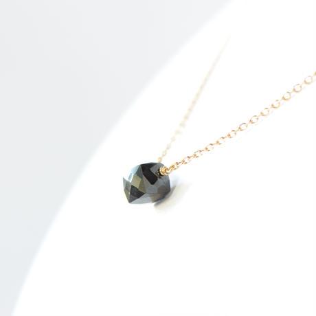 ブラックスピネルネックレス|SNN-085BS(K10YG)