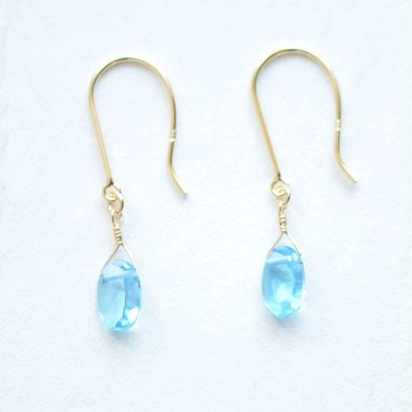 Blue Topaz pierce (SNN-091BT K18YG)