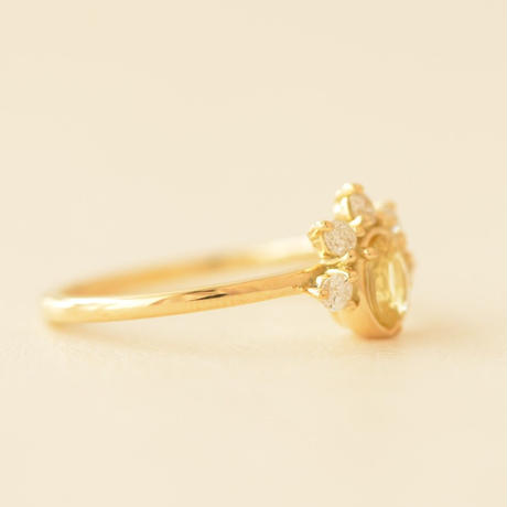 Yellow Sapphire/Diamond Ring  #12 (SAR-017-D K18YG)