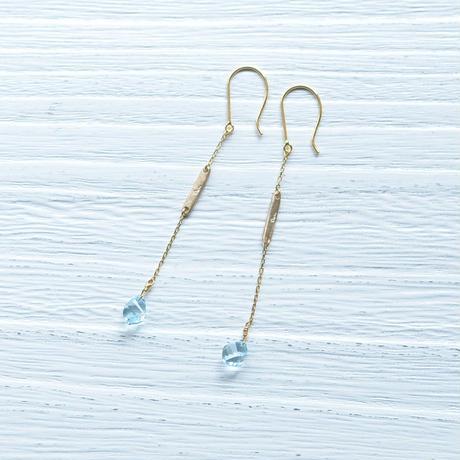 Blue Topaz pierce (SNP-078BT K18YG)