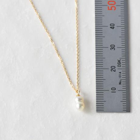 双子アコヤ真珠ネックレス SNN-099AKOYA(K18YG)