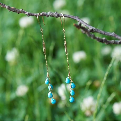 Turquoise pierce (SNP064-SB-LO)K10YG