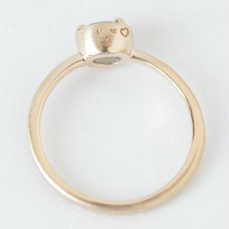 smile刻印入り サファイア Sapphire Ring  #12  ヘアライン 仕上げ (SAR-017)