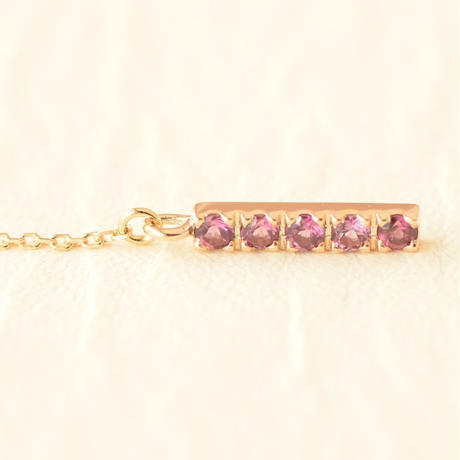 Rhodolite Garnet Necklace  (SNN-060RG-long)