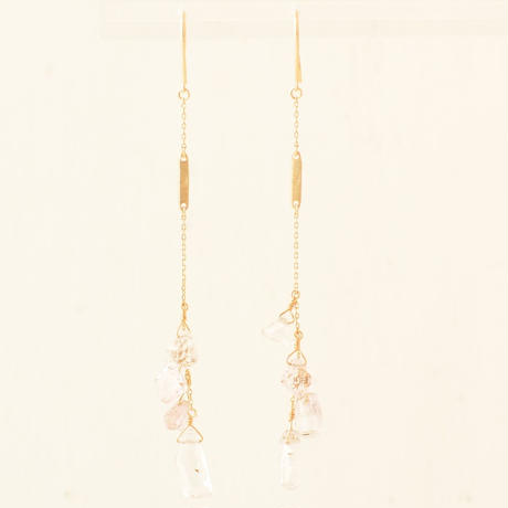 Kunzite  Long Pierce  (SNP-039KU-F )
