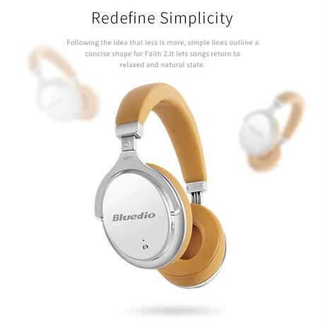 Bluedio F2 (Faith) ヘッドホン 自動的にノイズキャンセリング オーバーイヤ Bluetooth ワイヤレスヘッドセットマイク付き