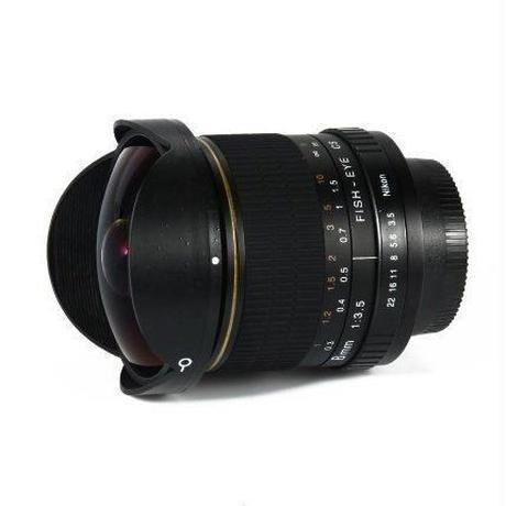ニコン用 魚眼レンズ 広角レンズ 超広角 8ミリメートルf/3.5 一眼レフ デジタル d3100 d3200 d5200 d5500 等