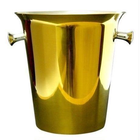 業務用 シャンパンクーラー ワインボトルクーラー アイスバケツ ゴールド 金色 高級飲食店 厨房 業務用 ホテル パーティー ケータリング