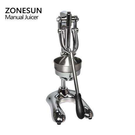 手動ジューサー ZONESUN  ステンレススチール ハンドジューサー