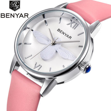 BENYAR レディース カジュアルクォーツ腕時計