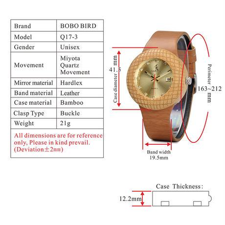 BOBO BIRD  木製時計  レディースウォッチ  クォーツ