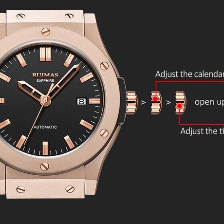RUIMAS高級腕時計 機械式自動巻き ハイエンドオマージュウオッチ