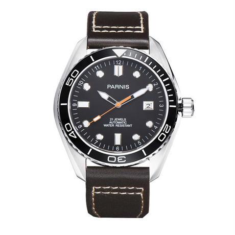 Parnis メンズ 機械式腕時計 防水