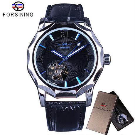 T-WINNER  スケルトンダイヤル 腕時計 メンズ 機械式腕時計