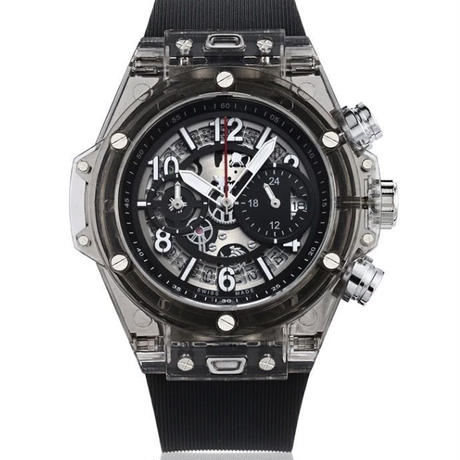 KIMSDUN スケルトン腕時計 メンズ クォーツムーブメントブラック K-719-2